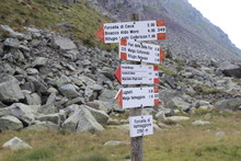 Wooden Sign In Mountains