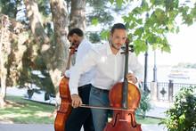 Street Musicians In Big City P...
