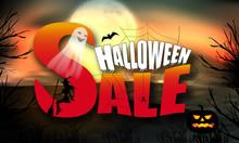 Halloween Sale Over Full Moon ...