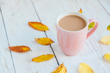 Coffee Cup And Yellow Autumn L...