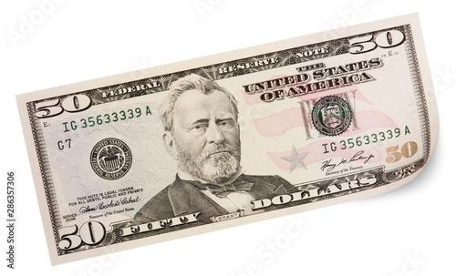 Fotografia 50 Dollars Bill
