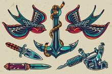 Vintage Colorful Flash Tattoos...