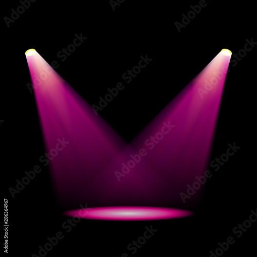 Fototapeta Glowing magenta spotlights obraz na płótnie