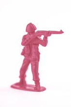 Little Pink Plastic Toy Soldie...
