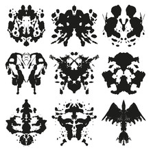 Rorschach Inkblot Vector Set