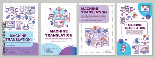 Fotomural  Machine translation brochure template layout