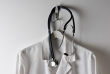 Closeup Of A Doctors White Lab...