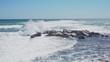 Waves Crashing To The Rocks in Nessebar Bulgaria