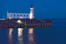 Scarborough Lighthouse At Night