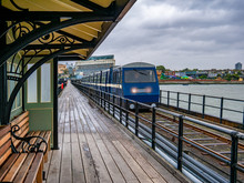 Southend Pier Railway Station On The West Shore Of England