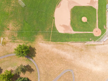 Baseball Playing Field, Shot From A High Point, Shot From A Height