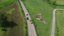 Aerial Ohio Amish Rural Farmla...