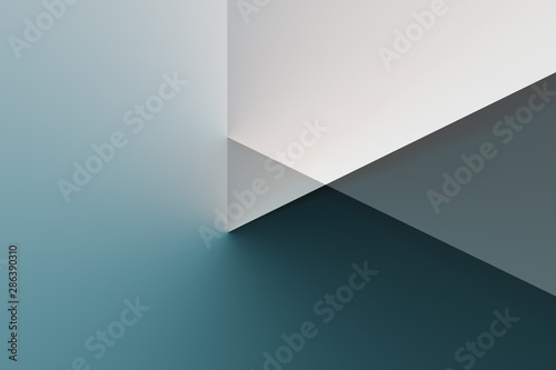 Obraz Illustrated background, triangle texture, video play button. Color blue. - fototapety do salonu