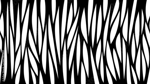 mata magnetyczna Abstract black and white horizontal seamless background with lines and holes. Laser cut vector template.