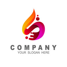 Letter S Logo With Fire Design Template, Fire Icon, 3d Icon