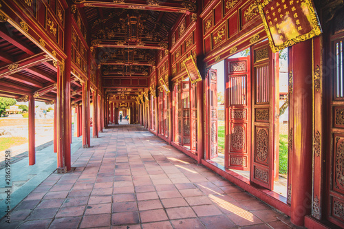 Hue imperial palace and Royal Tombs in Vietnam Fototapeta