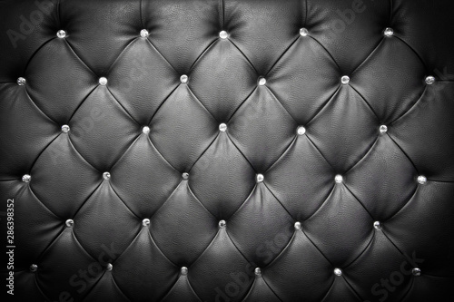 Photo uxury texture of leather furniture decorated with crystal