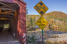 Covered Bridge Entrance With H...