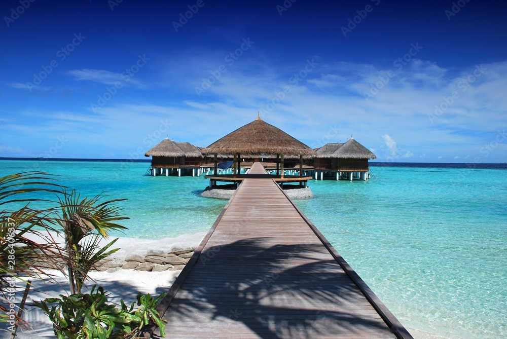 Fototapety, obrazy: City Picture: Maldives (Pier and bangalore)