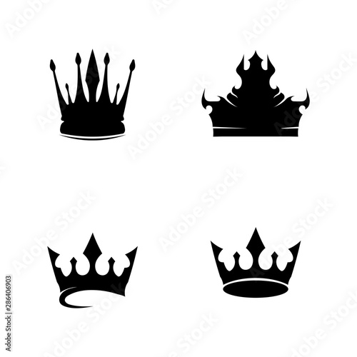 Crown Logo and king Template vector illustration Wallpaper Mural