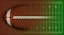 Football And Field Background -3D Illustration