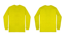 Blank Plain Yellow Long Sleeve...