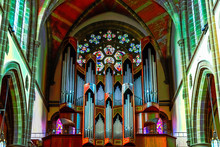 The Interior Of The Beautiful Historical Building Of Anglican Christ Church Cathedral In Victoria City In British Columbia