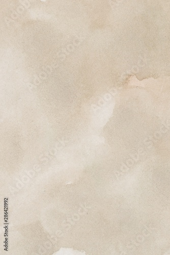abstract beige splotchy ink watercolor paper background Canvas Print