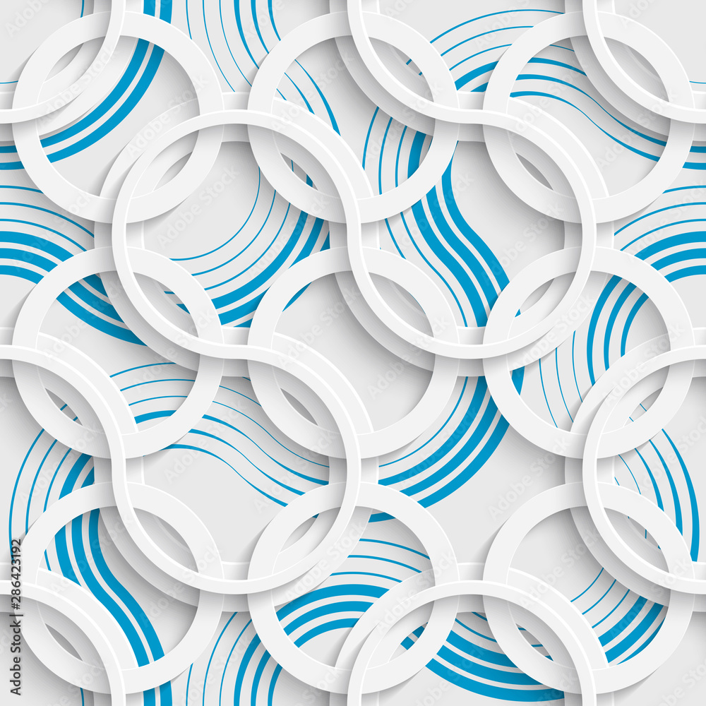Seamless Curved Stripe Background. Vector Delicate Pattern