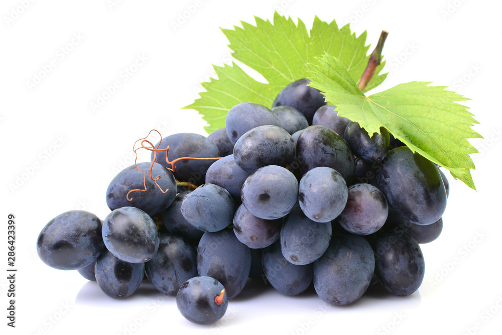 Fototapety, obrazy: Grapes on a white background