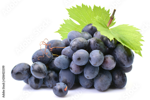 Fotografía Grapes on a white background
