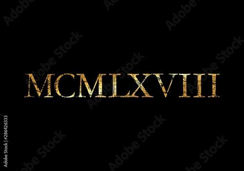 Papel de parede  MCMLXVIII 1968 Roman (Ancient Gold)