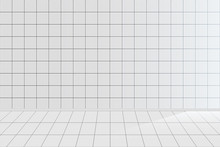 White Tile Realistic Vector Background