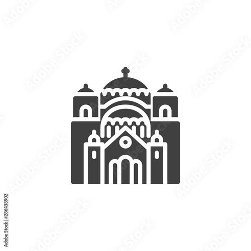 Belgorod famous landmark vector icon Wallpaper Mural