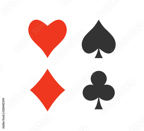 Photo Playing cards icon. Vector illustration, flat design.