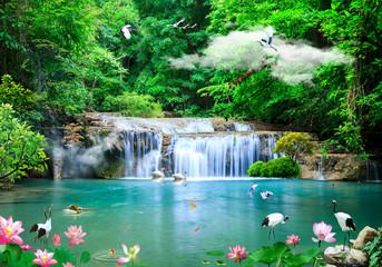 Fototapeta3d background nature wallpaper