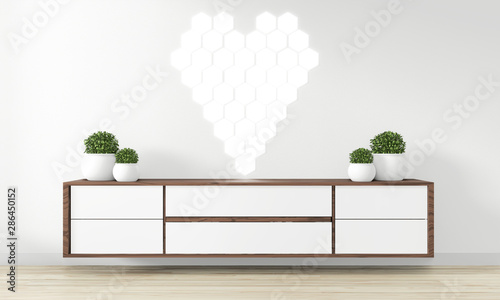 Cabinet Wooden Design In Modern Empty Room Japanese Zen Style Minimal Designs 3d Rendering Buy This Stock Illustration And Explore Similar Illustrations At Adobe Stock Adobe Stock