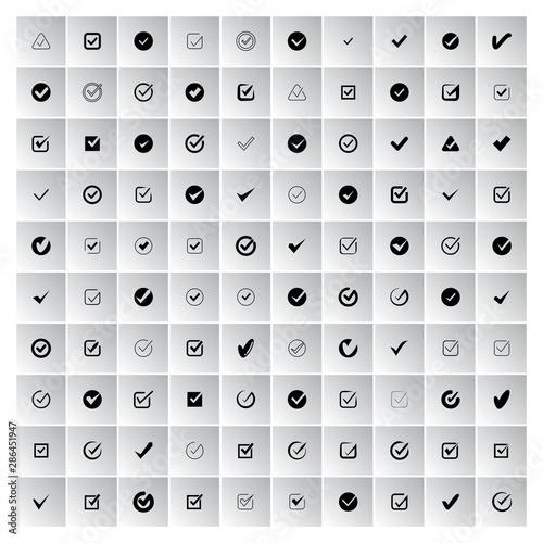 check mark, check list icons set Canvas Print