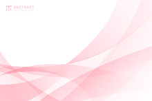Abstract Modern Light Pink Wav...