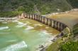 canvas print picture - Kaaimans River Railway Bridge, Wilderness, Garden Route, South Africa