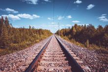 Railway View From Kuhmo, Finland.