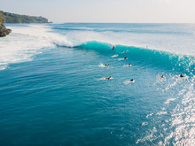 Aerial View Of Surfing At Barr...