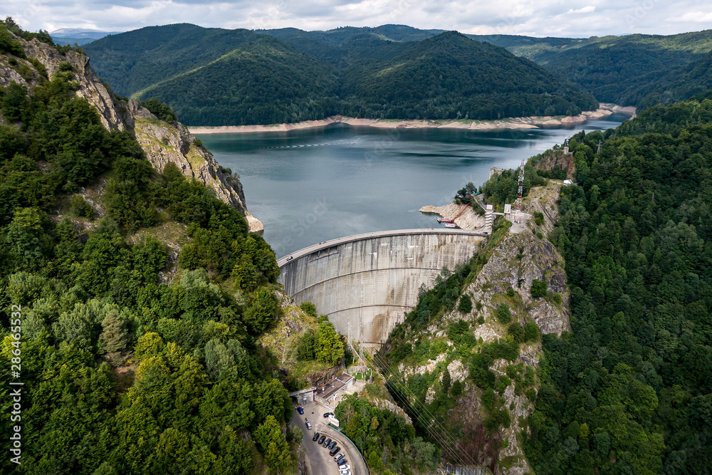 Fototapety, obrazy: Dam in the mountains