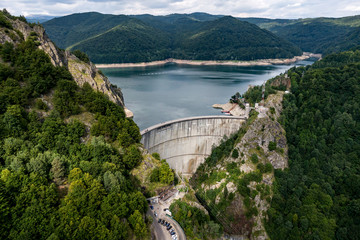 Obraz na płótnie Canvas Dam in the mountains