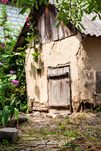 Old Cob Goat House With Wooden...