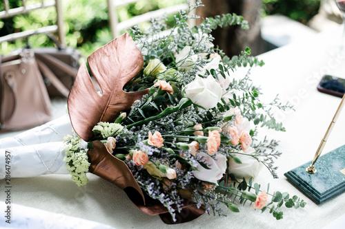 bouquet,flower bouquet,花束,ブーケ,ウェディング Fotobehang