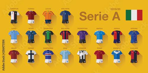 Fotomural Serie A Home Jerseys 2019-20