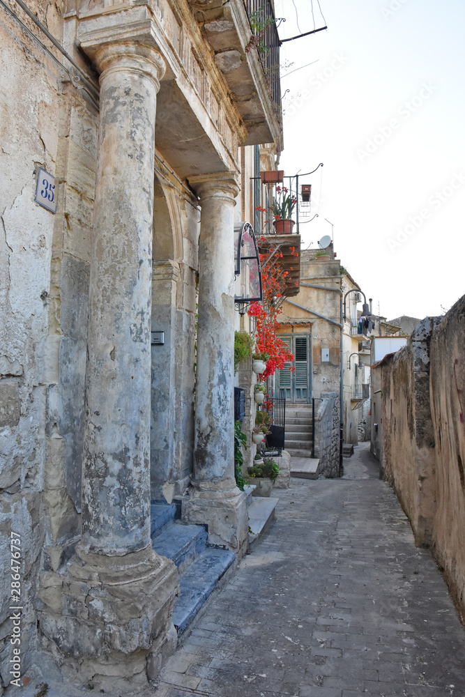 Holidays in the old town of Modica, Sicily, a UNESCO World Heritage Site.