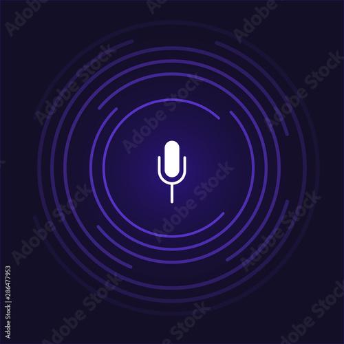 Fényképezés  Social media icon. Microphone illustration for social networks