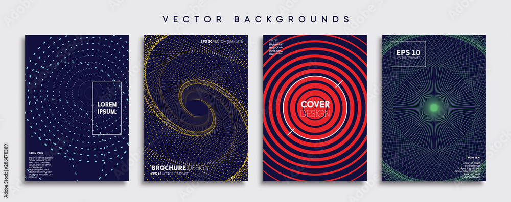 Fototapety, obrazy: Minimal Vector cover designs. Future Poster template.